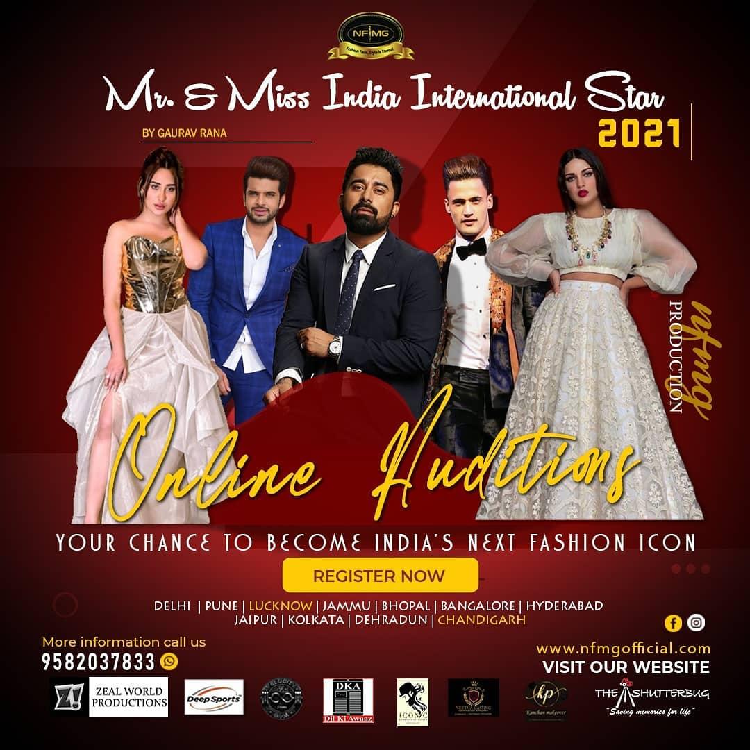 MR & MISS INDIA INTERNATIONAL STAR 2021