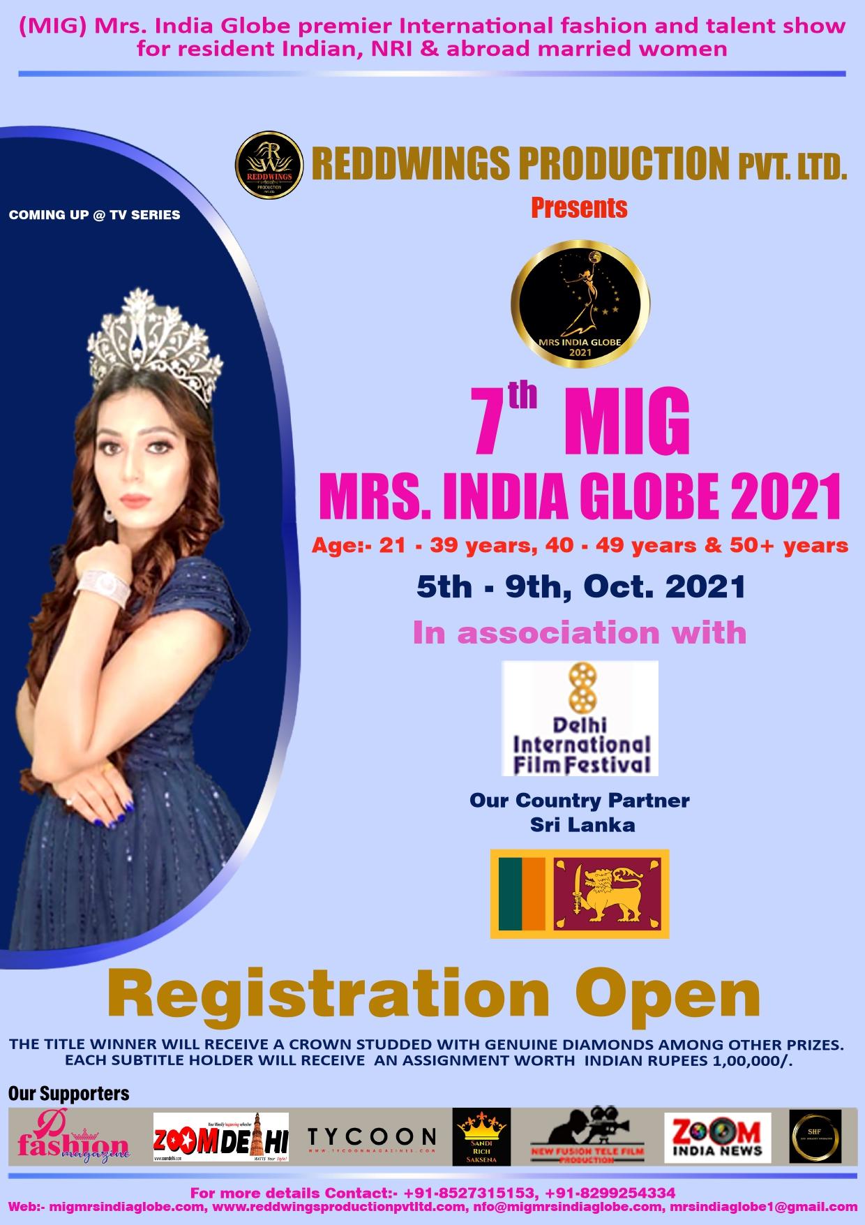 Mrs. India Globe premier International fashion and talent show