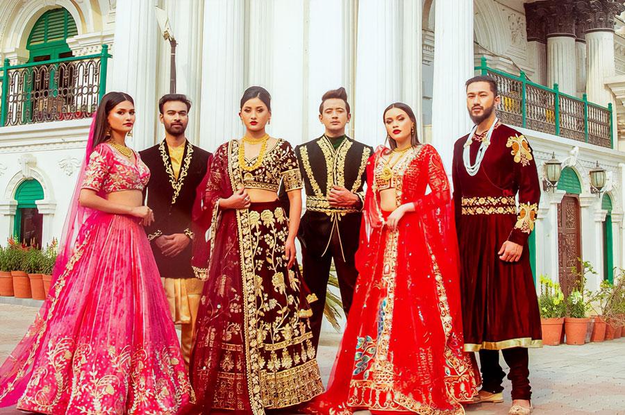 Nepalese Fashion Designer Manju Dhakal Reveals Spring Bridal Wear