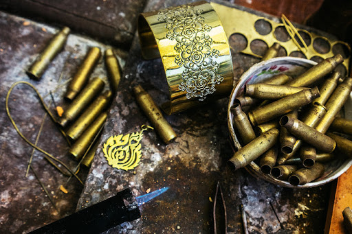 Turning bullets into jewellery by Cambodia jewellery designer Thorn Chantrea