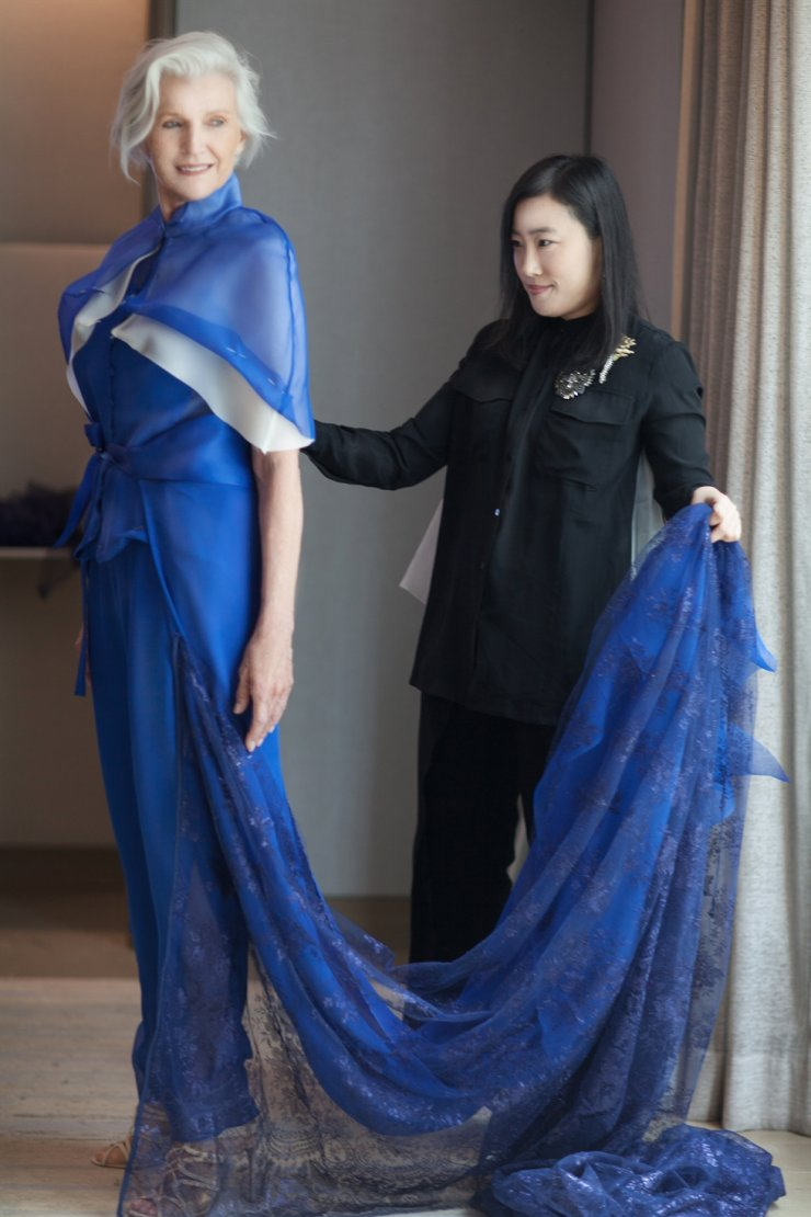 Korean fashion designer Yuna Yang portraying business tycoon Elon Musk's mother Maye as Inspiring