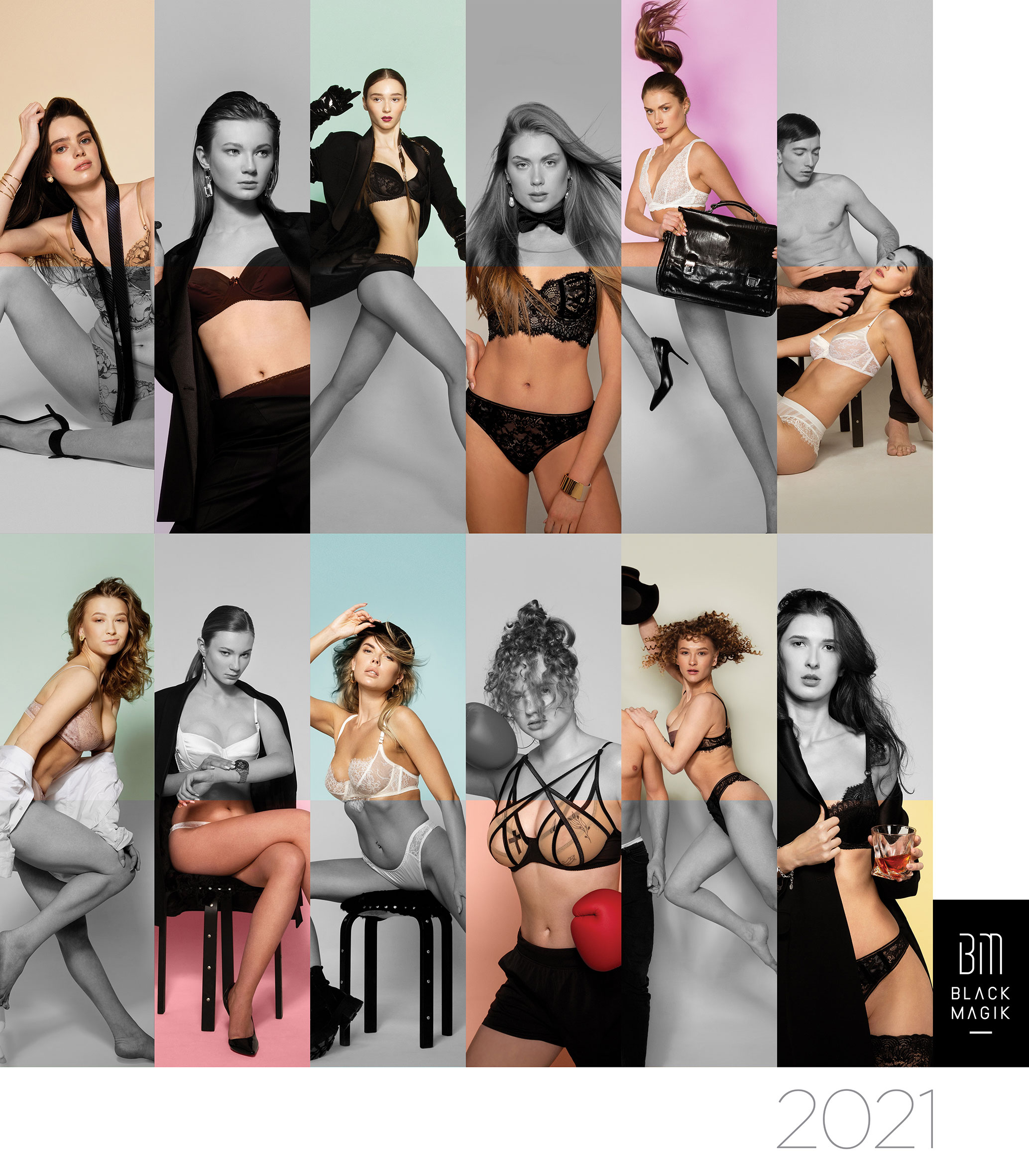 India Intimate Fashion Week's 3rd Edition of its Super Glamorous Fashion Calendar BLACK MAGIK